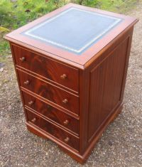 SOLD - Filing Cabinet Mahogany with Leather Top